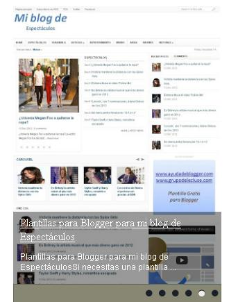 Slideshow vertical para usarlo en blogger
