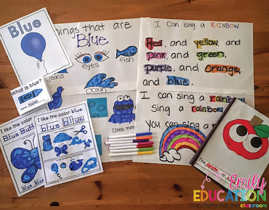 Teaching Color Words; Activities and Ideas