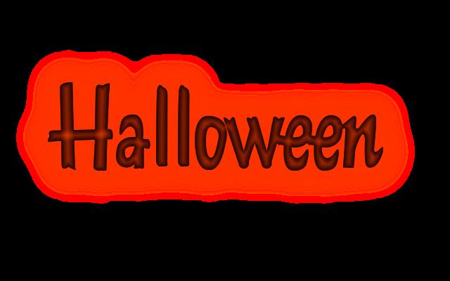 28 Textos halloween png con efectos