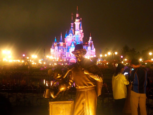 Walt Disney & Mickey Mouse statue, Shanghai Disneyland, China