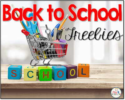 back to school freebies for the kindergarten classroom: start the school year off with some useful free names, calendar numbers and more.