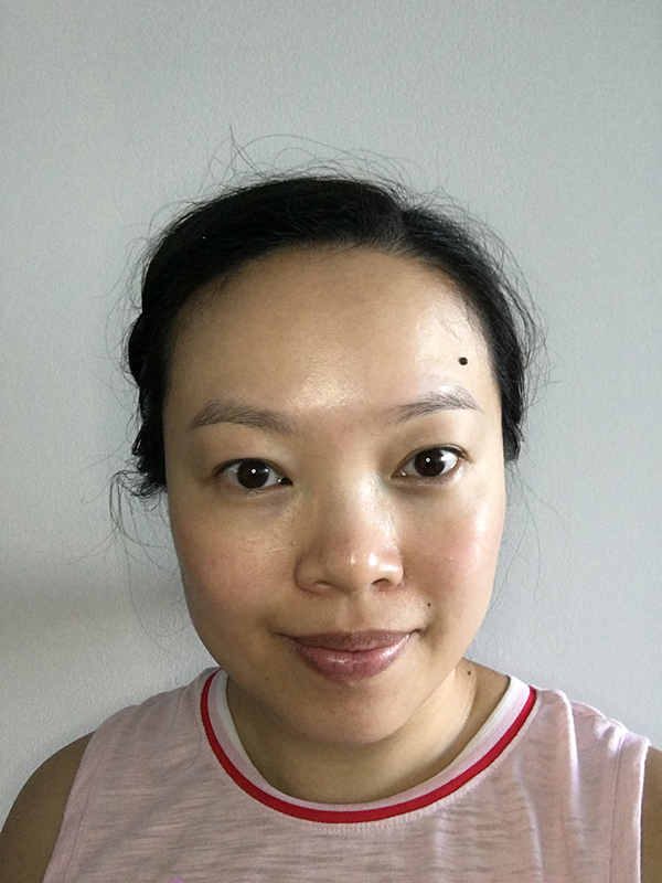 Untinted eyebrows before Maybelline Tattoo Brow Long Lasting Tint