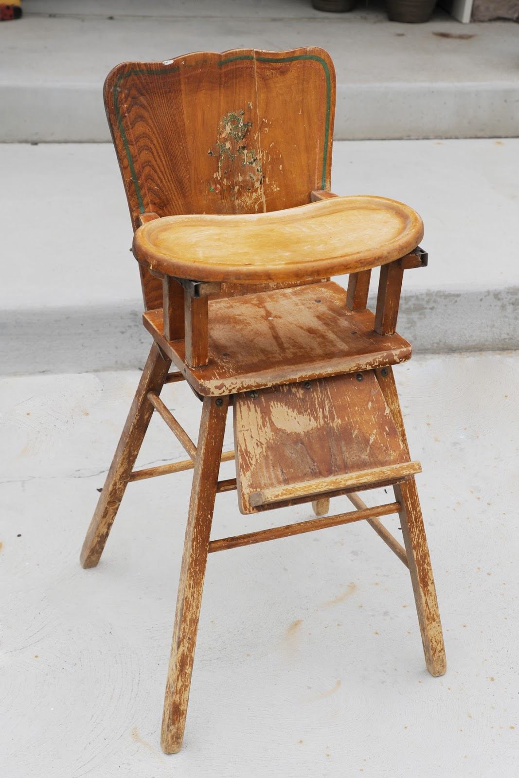 Wooden High Chair Vintage Wooden High Chair 40 Alice And Hatter