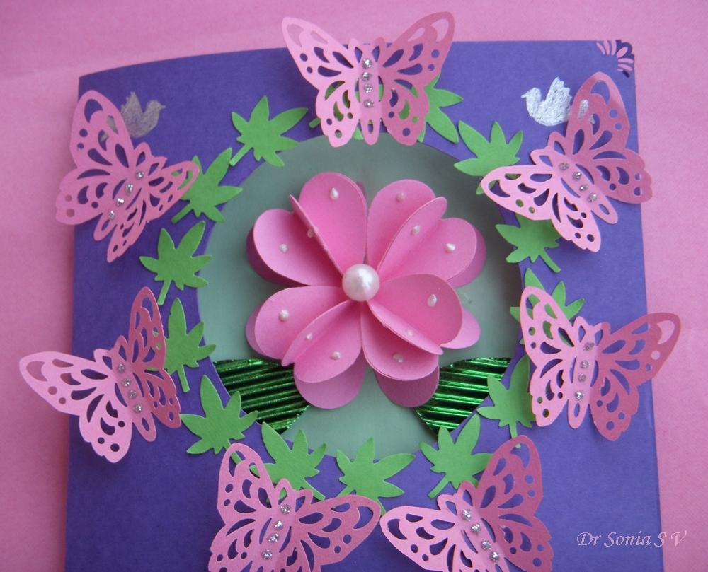 Цветы на открытки из бумаги, надписями бросай
