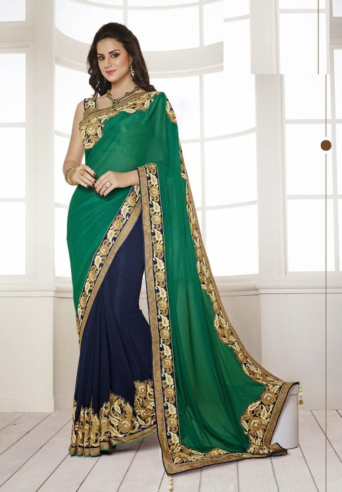 Saree Market Bridal Sarees Green Colours