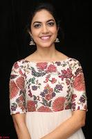Ritu Varma smiling face Cream Anarkali dress at launch of OPPO New Selfie Camera F3 ~  Exclusive 049.JPG