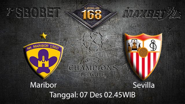 PREDIKSIBOLA - PREDIKSI TARUHAN BOLA MARIBOR VS SEVILLA 7 DESEMBER 2017 ( UEFA CHAMPIONS LEAGUE )