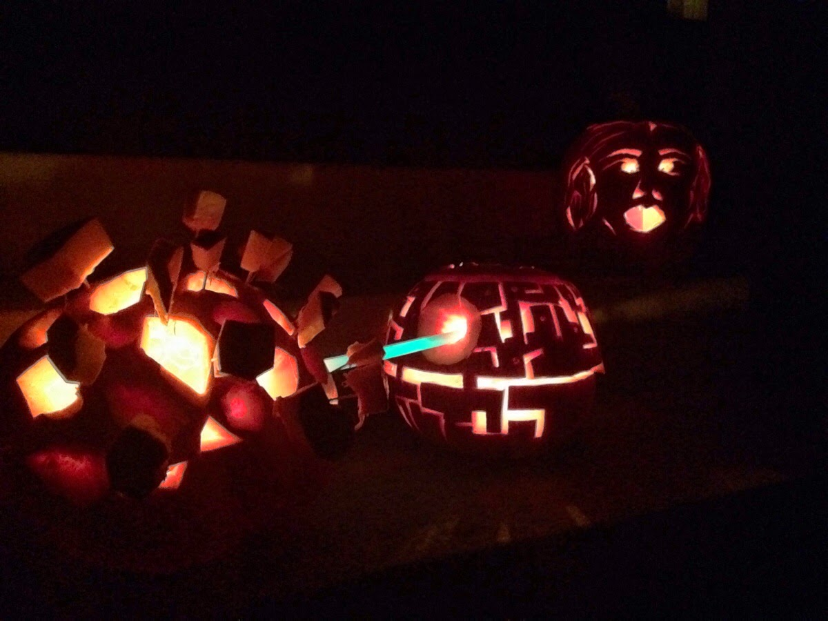 Death Star Exploding Pumpkin