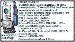 Tempat Penjualan Total station sokkia CX series105C Di Jakarta dan Tangerang