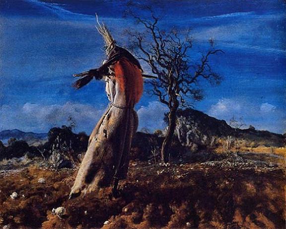 Cuadro de un espantapájoros pintado por Pietro Annigoni