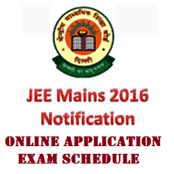JEE Main 2017 Notification Online Application and Schedule