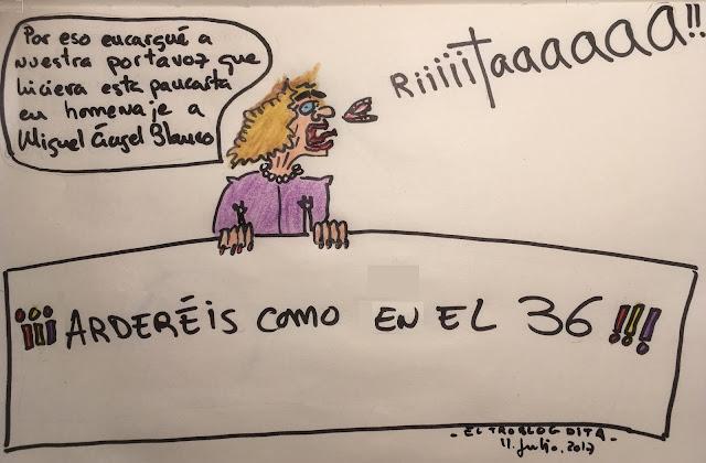 Carmena lidera la pancarta del Ayuntamiento de Madrid en homenaje a Miguel Ángel Blanco - el troblogdita