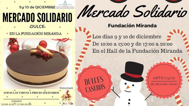 Carteles del mercadillo de la Fundación Miranda