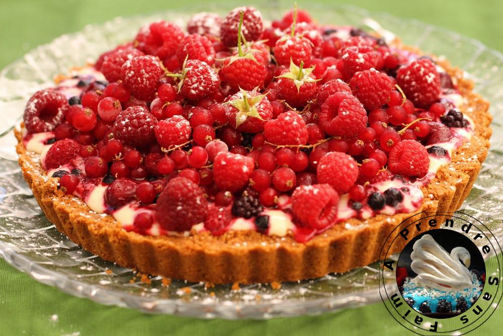 Tarte express aux fruits rouges surgelés sans cuisson