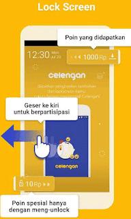 Lockscreen aplikasi Celengan