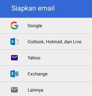 siapkan email untuk ditautkan