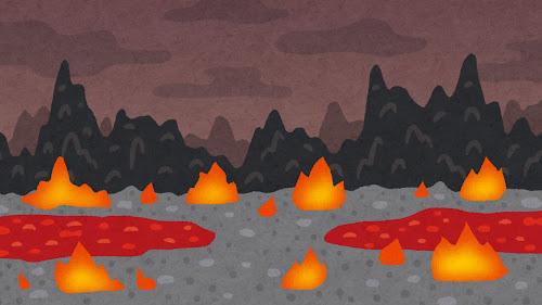 地獄のイラスト(背景素材)