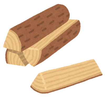 薪のイラスト