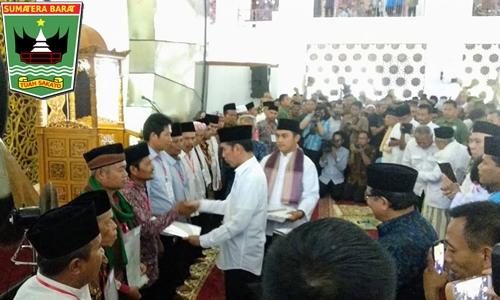 Soal Sertifikat Tanah Rumah Ibadah, Gubernur Irwan Apresiasi Jokowi