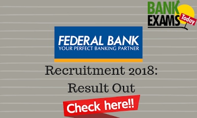 Federal Bank Officers & Clerk Recruitment: Result Out