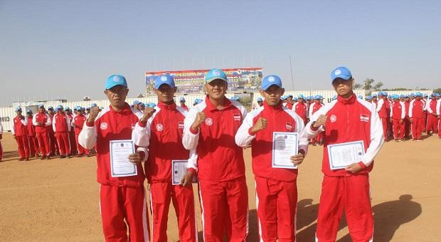 6 Prajurit Indobatt-03/UNAMID Raih Penghargaan