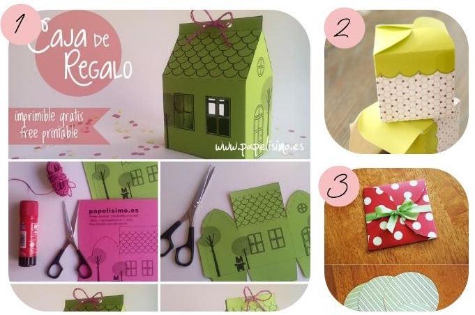 12 imprimibles para hacer cajitas de regalos