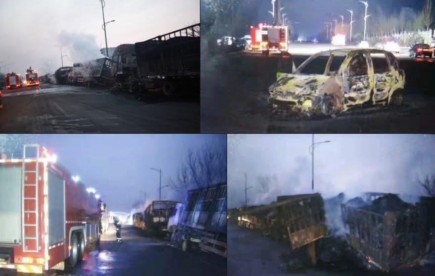 Esplode impianto chimico: tremende immagini dalla Cina.