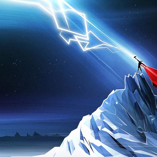 Thor Lightning Minimalist Marvel 4k Wallpaper 265