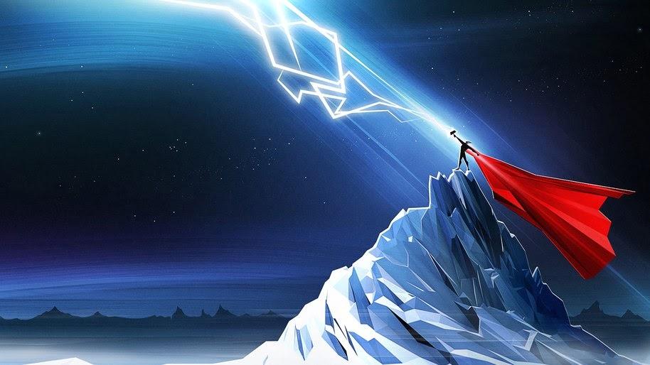 Thor, Lightning, Minimalist, Marvel, 4K, #265
