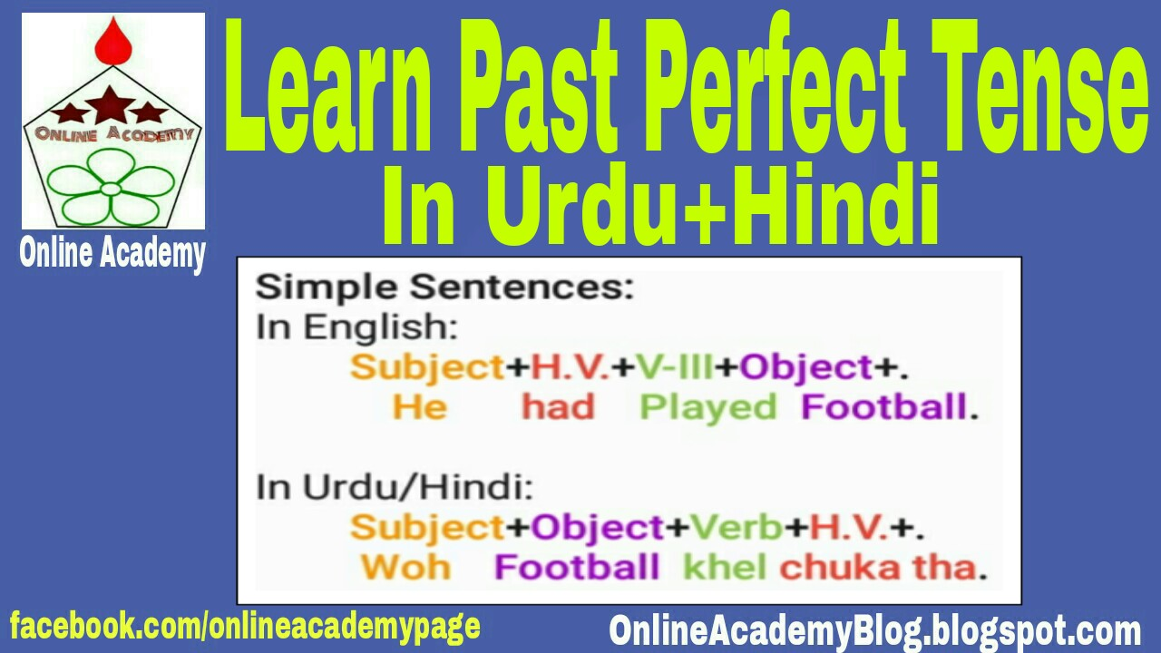 Online Academy Blog: Learn English Past Perfect Tense in