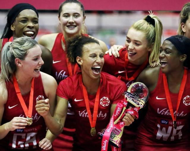 england netball team women's brand logo vitality roses sports branding