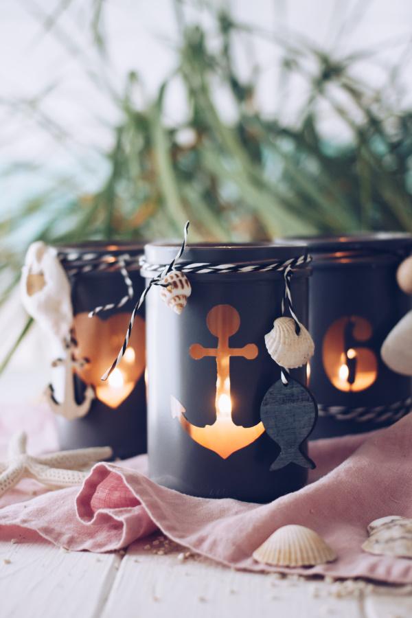 Einfach basteln: DIY Windlichter mit Meeresbrise für laue Sommerabende. Oder für einen kuscheligen Herbst. titatoni.de