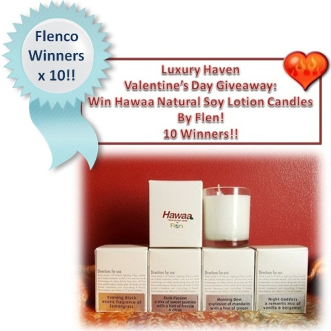valentines day flenco hawaa candles giveaway