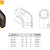 fitting hdpe   Pipa HDPE - EF Elbow 45