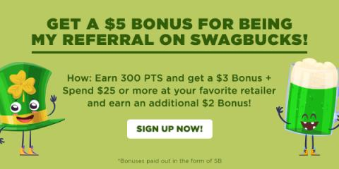 Image: March is here, and it's bringing you the chance to get a $5 bonus from Swagbucks!