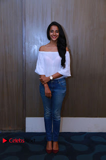 Actress Apoorva Srinivasan Pictures in Jeans at Tollywood Thunder Franchise Launch  0014