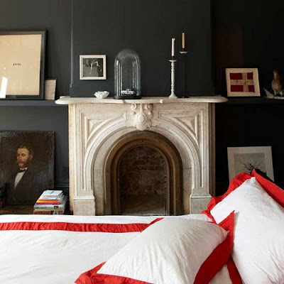 Jenna Lyons black bedroom Living Etc