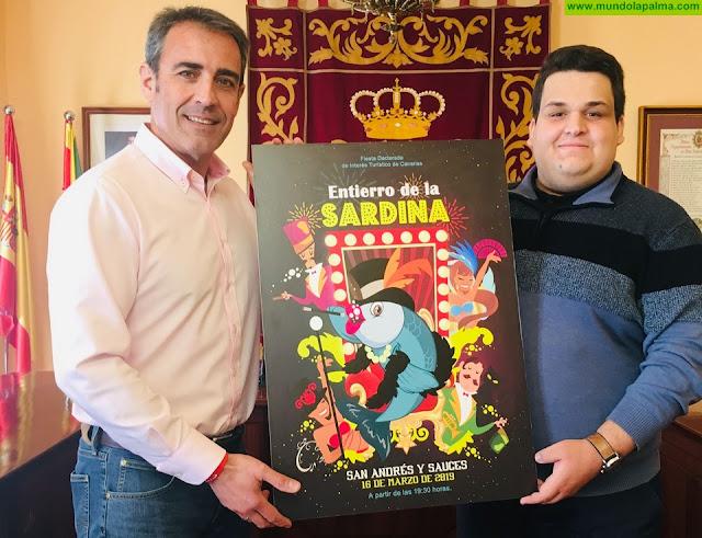 ¡Que Comience el Show! del diseñador Abian Lázaro, nuevo Cartel Anunciador del Entierro de la Sardina de San Andrés y Sauces