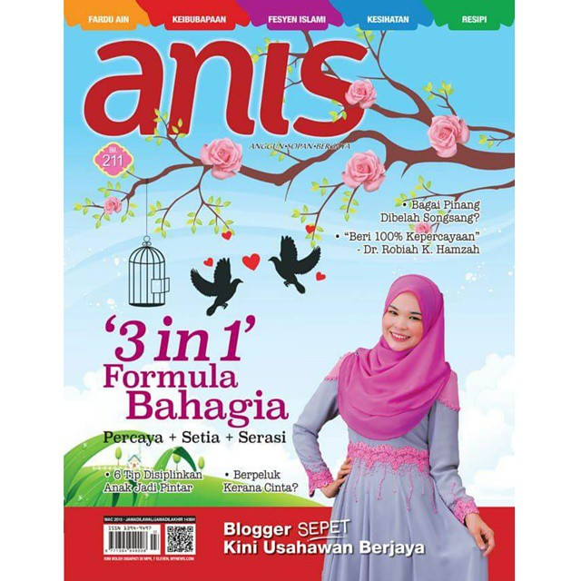 Cover Girl In Majalah Anis