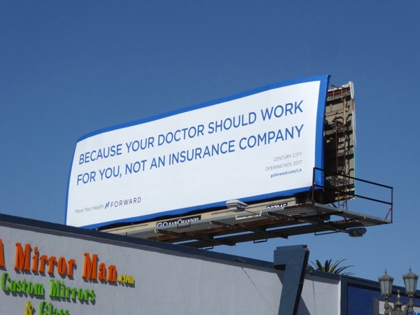 Forward healthcare billboard
