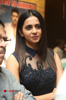 Actress Rakul Preet Singh Stills in Beautiful Blue Long Dress at Dhruva Salute to Audience Event  0007.JPG