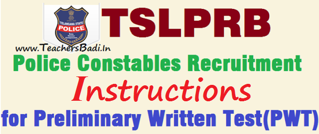 TSLPRB,Instructions,Police Constable Posts