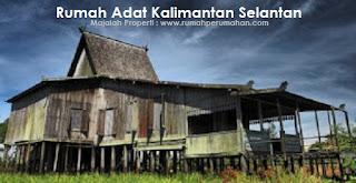 Desain Bentuk Rumah Adat Kalimantan Selatan dan Penjelasannya, Rumah adat daerah Banjar