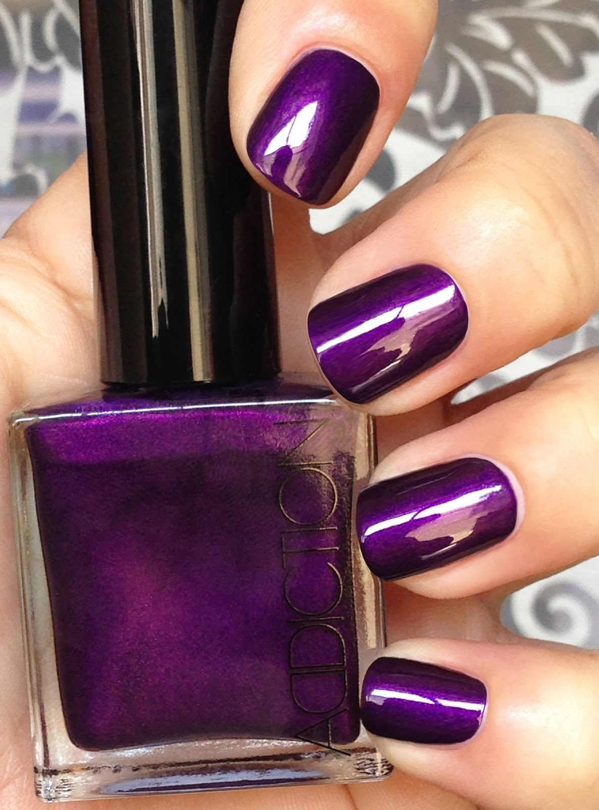 Image result for Deep Purple Color nail paint
