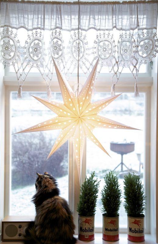 Decorar Estrellas De Navidad Tela De Saco