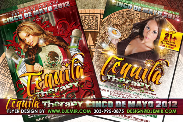 Tequila Therapy Cinco De Mayo Flyer Design