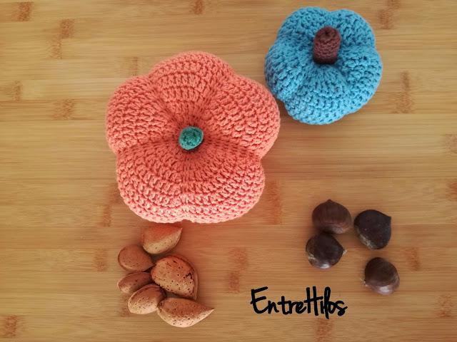 como hacer una calabaza a crochet