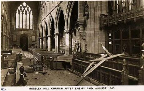 28 August 1940 worldwartwo.filminspector.com Liverpool church bombed