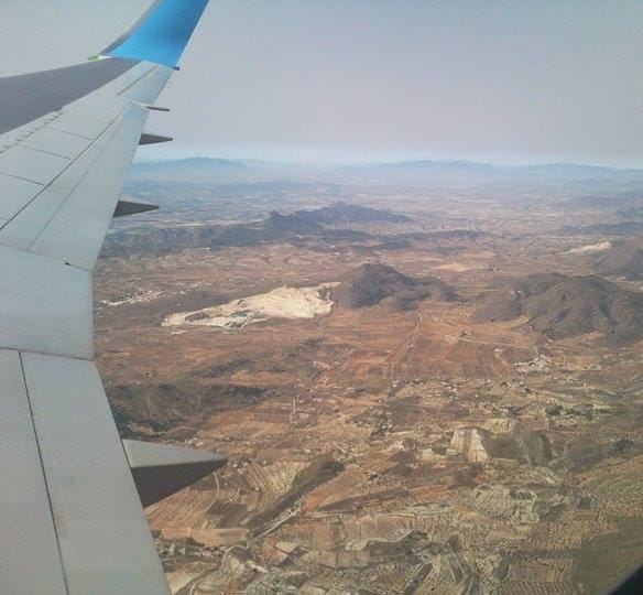 #BEDN : There Are Two Types Of Photos I Always Take On Holiday... In a plane, over Spain somewhere