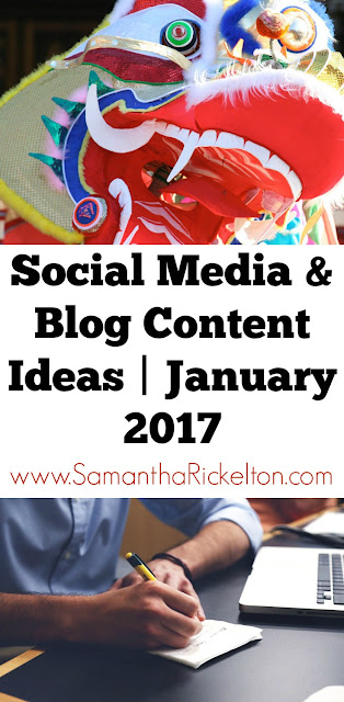 Social Media & Content Ideas for your business or blog | January 2017